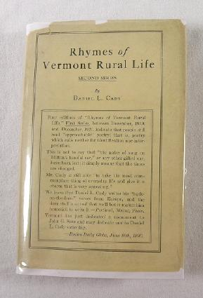 Rhymes of Vermont Rural Life: Second Series: Cady, Daniel L.