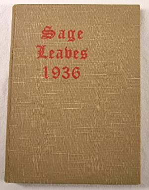 Sage Leaves 1936. Yearbook or Class Book of Russell Sage College