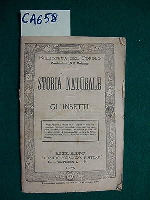Storia naturale - Gl'insetti: Autore non indicato)