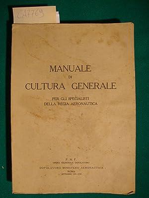 Manuale di cultura generale per gli specialisti: Autore non indicato)