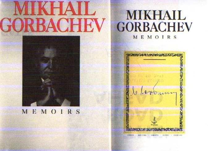 mikhail gorbachev signed abebooks