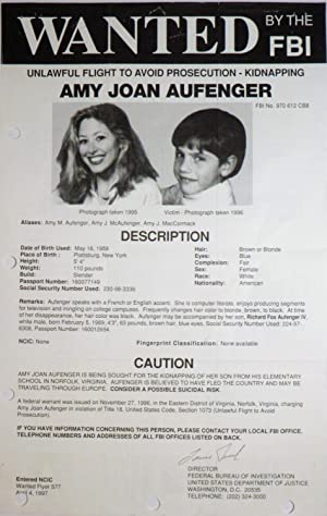 FBI Wanted Poster- Amy Joan Aufenger: Wanted Posters