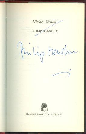 KITCHEN VENOM: Hensher, Philip