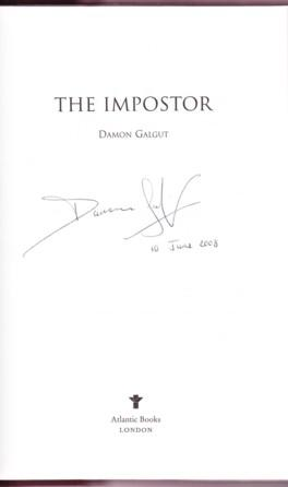 THE IMPOSTER: Galgut, Damon
