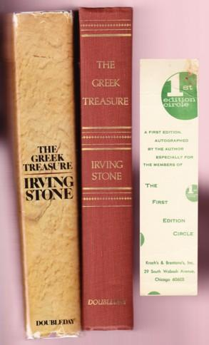 THE GREEK TREASURE. A BIOGRAPHICAL NOVEL OF: Stone, Irving