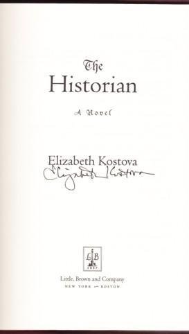 THE HISTORIAN: Kostova, Elizabeth