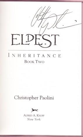ELDEST. INHERITANCE BOOK TWO: Paolini, Christopher