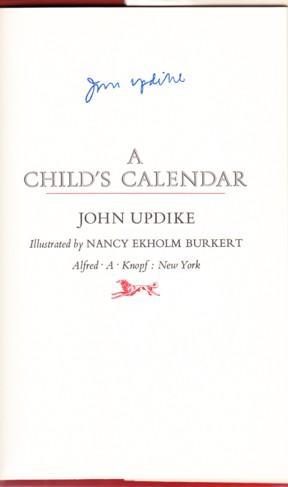 A CHILD'S CALENDAR: Updike, John