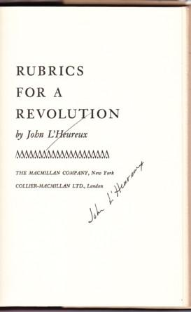 RUBRICS FOR A REVOLUTION: L'Heureux, John