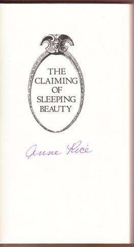 THE CLAIMING OF SLEEPING BEAUTY: Rice, Anne as A.N. Roquelaure