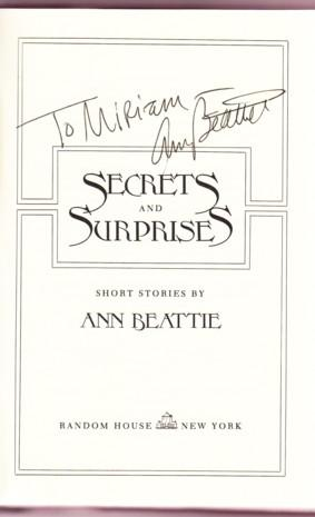 SECRETS AND SURPRISES: Beattie, Ann