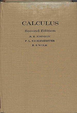 Calculus Second Edition: R. E. Johnson/F.L.