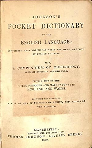 Johnson's Dictionary of the English Language; containing: Johnson, Samuel