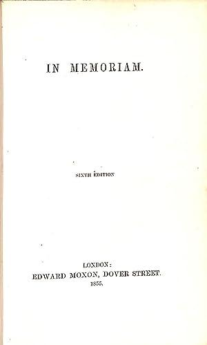 In Memoriam: Alfred, Lord Tennyson