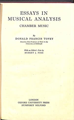 essays in musical analysis chamber music