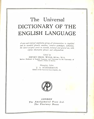 Universal Dictionary Fo The English Language: Wyld , Henry