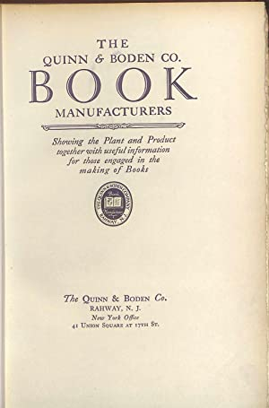 The Quinn & Boden Co. Book Manufacturers: Quinn, Vernon