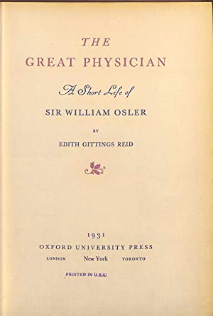 """THE GREAT PHYSICIAN""""A SHORT LIFE STORY OS: REID"""
