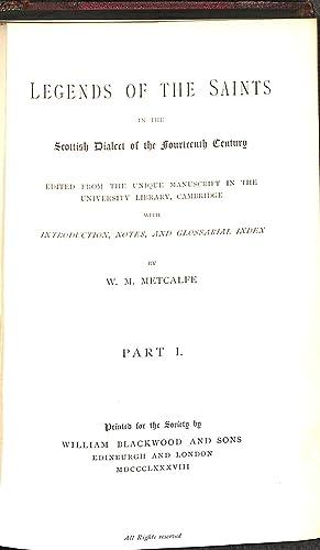 Legends of the Saints in the Scottish: William M. Metcalfe