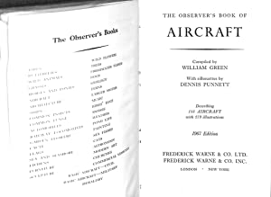 The Observer's Book Of Aircraft. 1958: Green, William; Pollinger,
