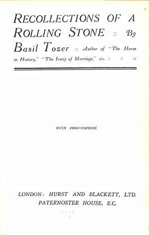 Recollections of a Rolling Stone: Tozer, Basil