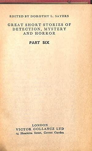 Great Short Stories of Detection, Mystery and: Dorothy L. Sayers