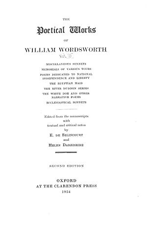 The Poetical Works of William Wordsworth: Miscellaneous: William Wordsworth, E