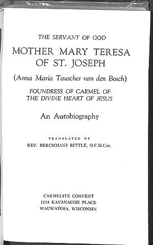 The Servant Of God Mother Mary Teresa: Anna Maria Tauscher