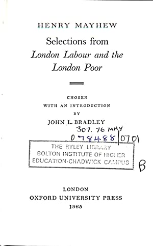Selections from London labour and the London: Henry Mayhew