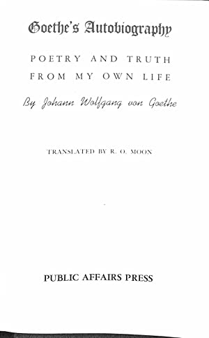 Goethe Used Abebooks