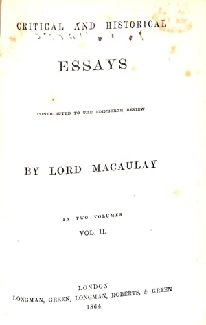 macaulay essays