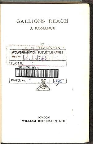 Gallions Reach - A Romance: Tomlinson, H M