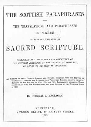 The Scottish Paraphrases being the translations and: MacLagan