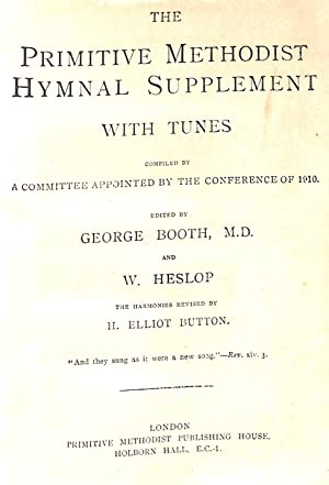The Primitive Methodist Hymnal Supplement With Tunes