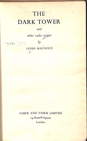 The Dark Tower And Other Broadcast Plays: Macneice, Louis