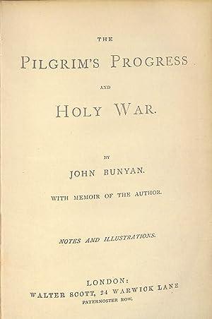 """The Pilgrim""""s Progress and Holy War with: John Bunyan"""