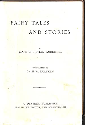 Fairy Tales and Stories: Hans Christian Anderson,