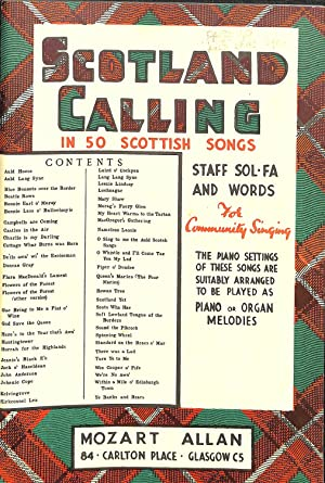 Keyboard Organ Piano Vocal Scotland Calling 50: Mozart Allan