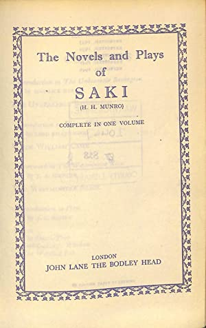 THE COMPLETE NOVELS AND PLAYS OF 'SAKI'(H.H.: SAKI'(H.H. MUNRO)