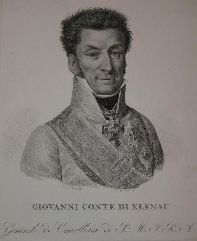 Kupferstich-Porträt von Lancon nach Jacob. Giovanni Conte: Klenau, Johann Graf
