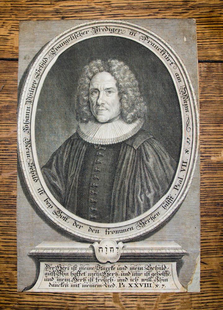 Kupferstich-Porträt. Johann Philipp Schild, Evangelischer Prediger in: Schild, Johann Philipp: