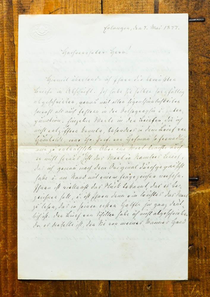 Eigenhändiger Brief an einen ungenannten Philologen und: Autographen von Schiller,