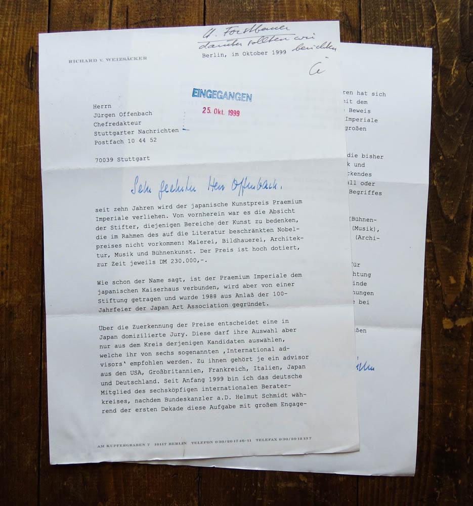 Brief Mit Original Unterschrift Zvab