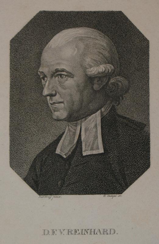 Kupferstich-Porträt von Zumpe nach Graff. D. F.: Reinhard, Franz Volkmar: