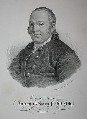 Lithographie-Porträt von Zimmermann. Johann Georg Pahlitzsch.: Palitzsch, Johann Georg: