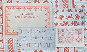 Alfabeto della Ricamatrice. Lettere, cifre, monogrammi e: Sticken, Handarbeit, Stick-Muster,