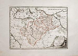Kolorierte Kupferstich-Landkarte von Reilly. Der Königlichen Republik: Polen, Poland, Warschau