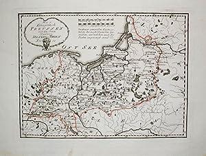 Königsberg Kaliningrad Karte.Kolorierte Kupferstich Landkarte Von Reilly