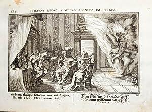 Kupferstich von Johann Wilhelm Baur aus dem: Ovid, Metamorphosen, Aigeus,