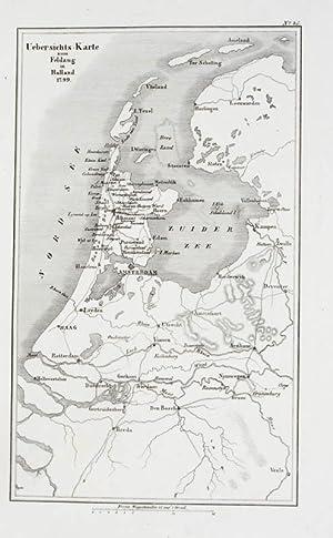 Karte Von Holland Landkarte Niederlande.Kupferstich Landkarte Uebersichts Karte Zum